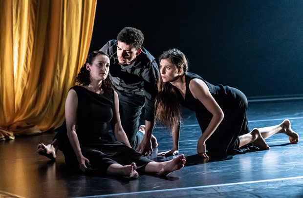 Jennifer France and National Dance Company Wales dancers in Pascal Dusapin's <I>Passion</I>.<br />© Clive Barda. (Click image for larger version)