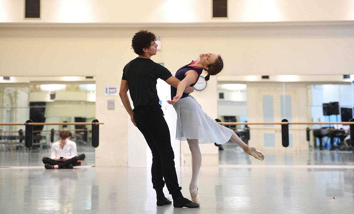 Isaac Hernandez and Jurgita Dronina in rehearsals for Manon.© Laurent Liotardo. (Click image for larger version)