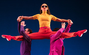 Dallas McMurray, Sarah Haarmann and Sam Black in Pepperland.© Mat Hayward. (Click image for larger version)