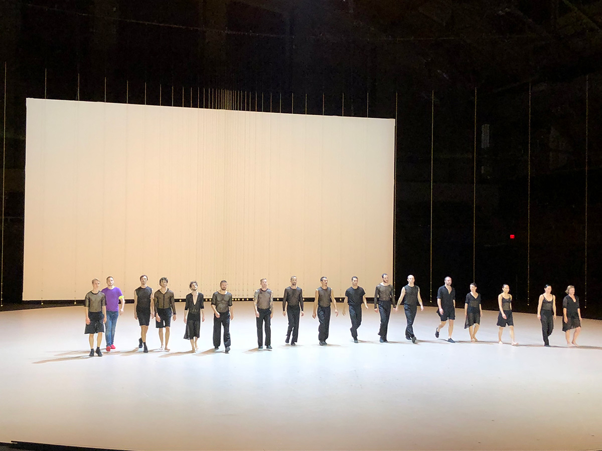 Anne Teresa De Keersmaeker / Rosas at the Park Avenue Armory.© Marina Harss. (Click image for larger version)