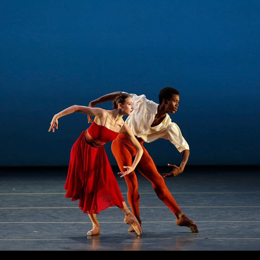 Christine Shevchenko and Calvin Royal III in Alexei Ratmansky's Songs of Bukovina.© Marty Sohl. (Click image for larger version)