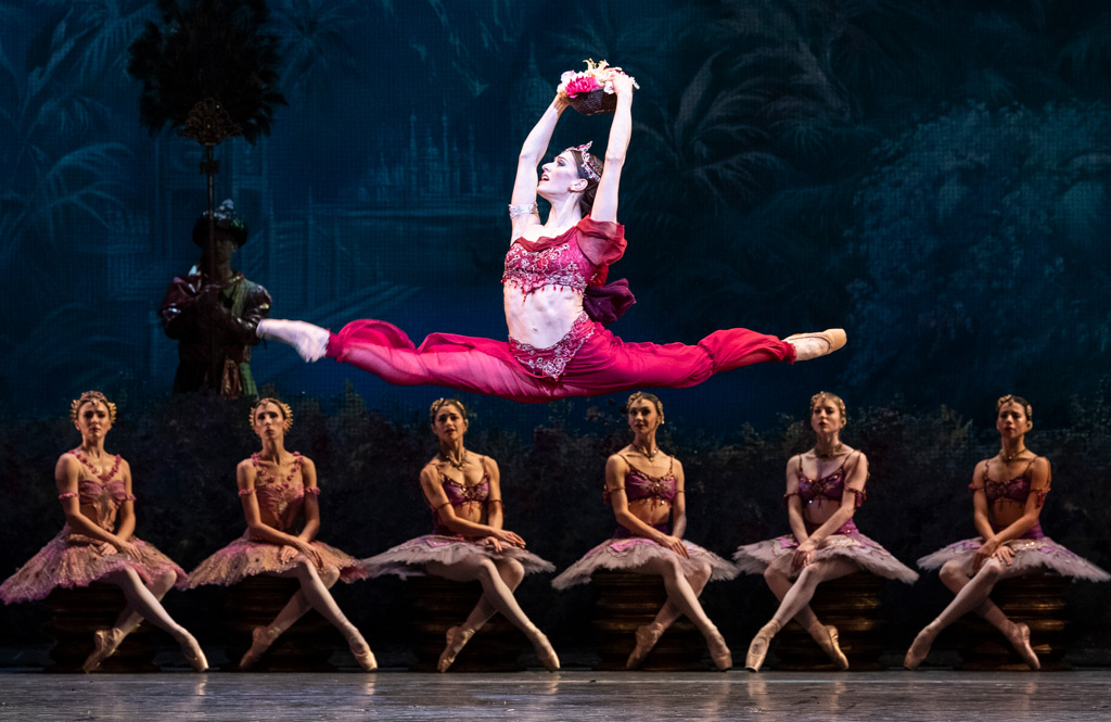 Marianela Nuñez in La Bayadère.© Foteini Christofilopoulou, courtesy the Royal Opera House. (Click image for larger version)