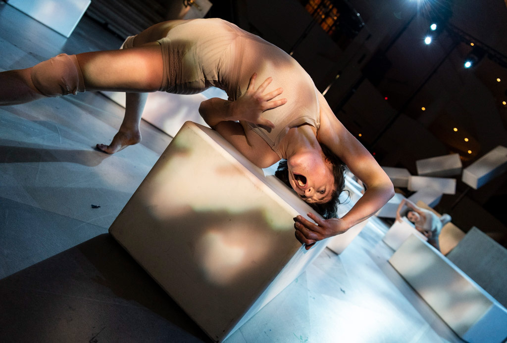 Emily Pottage in Contagion.© Foteini Christofilopoulou. (Click image for larger version)