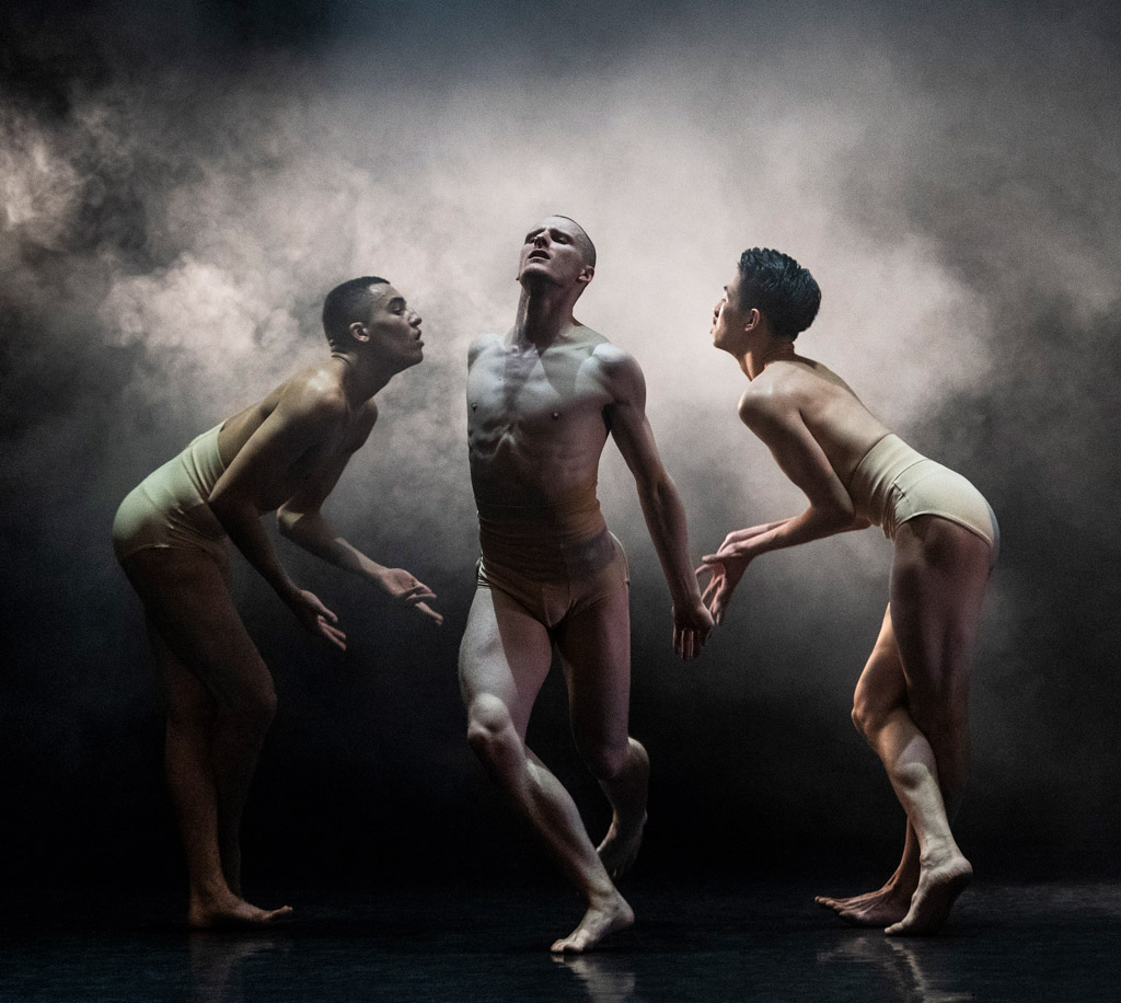 Meshach Henry, Conor Kerrigan and Han Hua in Killer Pig by Sharon Eyal & Gai Behar.© Foteini Christofilopoulou. (Click image for larger version)