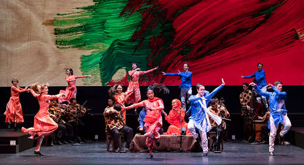 Mark Morris Dance Group / Silkroad Ensemble: Layla and Majnun.© Foteini Christofilopoulou. (Click image for larger version)