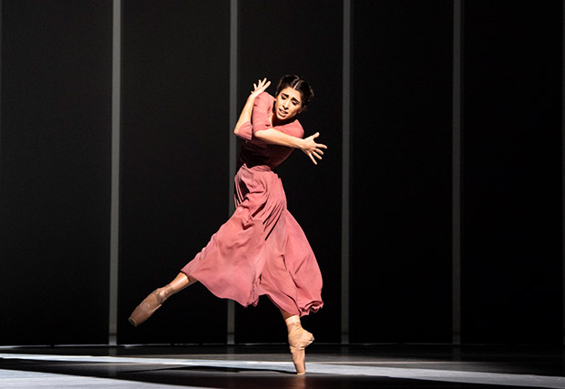 Yasmine Naghdi in <I>The Unknown Soldier</I>.<br />© Foteini Christofilopoulou, courtesy the Royal Opera House. (Click image for larger version)