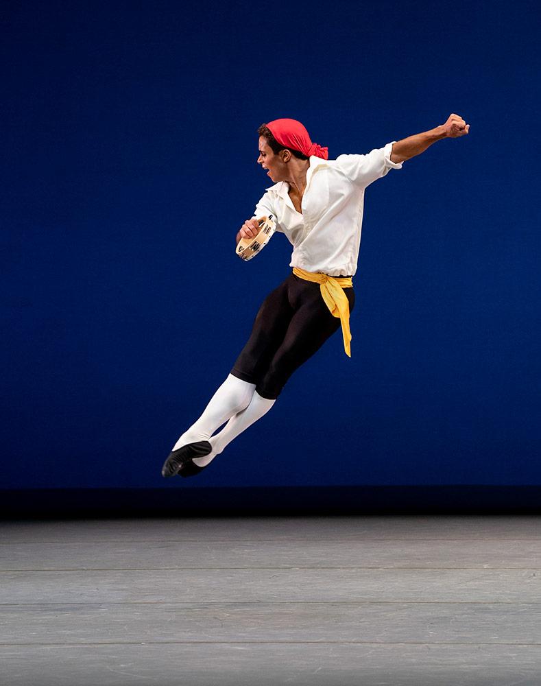 Marcelino Sambe in <I>Tarantella</I>.<br />© Paul Kolnik. (Click image for larger version)