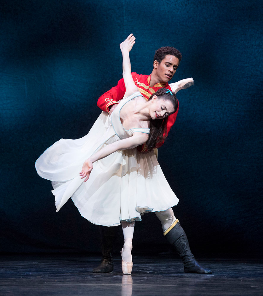 Anna Rose O'Sullivan and Marcelino Sambe in The Nutcracker.© Alastair Muir, courtesy the Royal Opera House. (Click image for larger version)