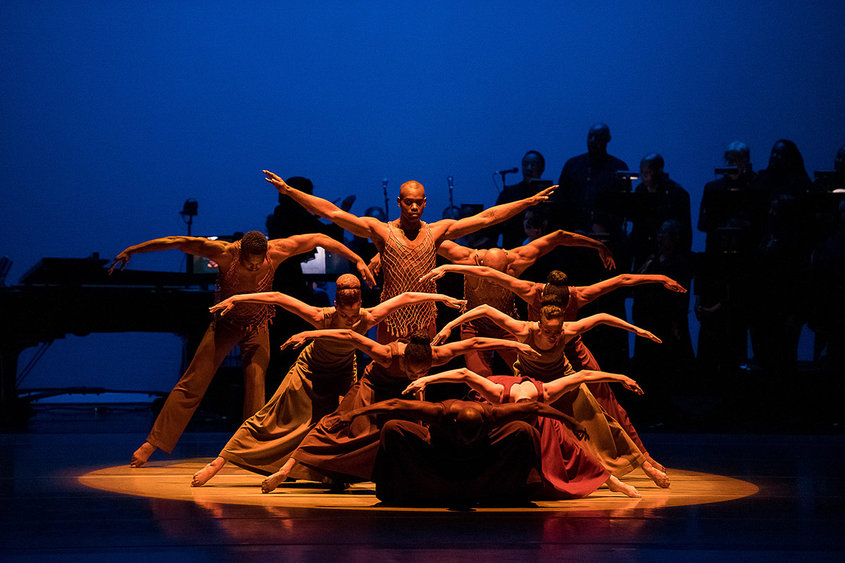 AAADT in Alvin Ailey's Revelations with live music.© Christopher Duggan. (Click image for larger version)