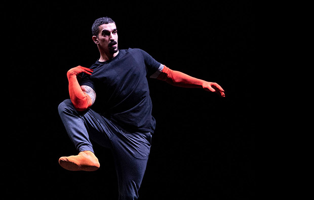 Rauf Yasit in <I>Epilogue</I>. Part of William Forsythe's <I>A Quiet Evening of Dance</I>.<br />© Foteini Christofilopoulou. (Click image for larger version)