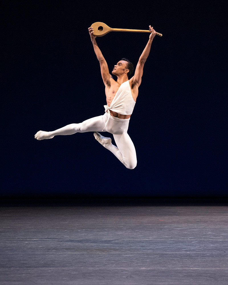Taylor Stanley in George Balanchine's Apollo.© Erin Baiano. (Click image for larger version)