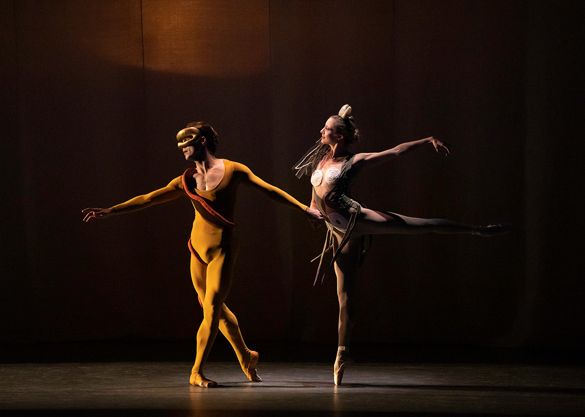 Sterling Hyltin and Gonzalo Garcia in George Balanchine's Orpheus.© Erin Baiano. (Click image for larger version)