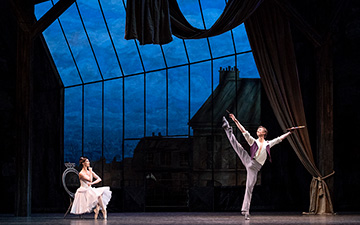 Lauren Cuthbertson and Vadim Muntagirov in The Two Pigeons.© Foteini Christofilopoulou, courtesy the Royal Opera House. (Click image for larger version)