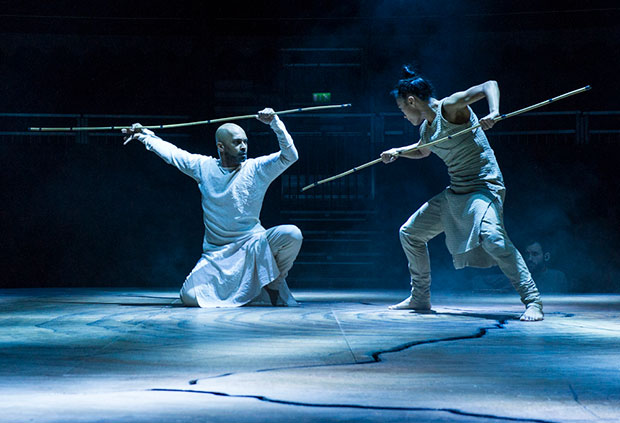 Akram Khan and Christine Joy Ritter in <I>Until the Lions</I>.<br />© Foteini Christofilopoulou. (Click image for larger version)
