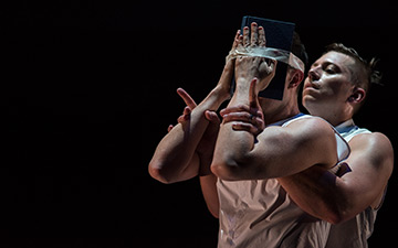 Ryan T. Smith and Aaron Perlstein in Brilliant Alarm.© Hillary Goidell. (Click image for larger version)