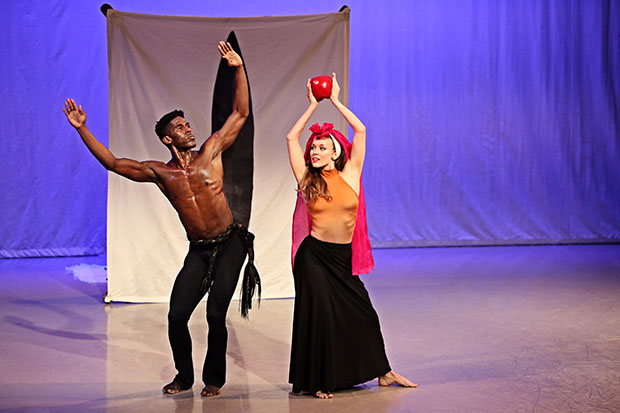 Lloyd Knight and Anne O'Donnell in Martha Graham's <I>El Penitente</I>.<br />© Melissa Sherwood. (Click image for larger version)