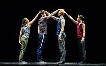 Alicia Delgadillo, Andrew Murdock, Florian Lochner and Ana Lopez in William Forsythe's N.N.N.N..© Todd Rosenberg. (Click image for larger version)
