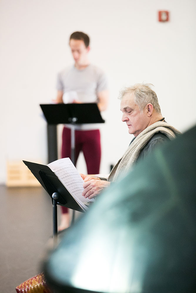 Mark Morris in <I>Pepperland</I> rehearsals.<br />© Beowulf Sheehan. (Click image for larger version)