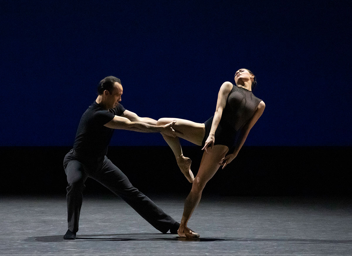 Tiler Peck and Tyler Angle in Forsythe's Herman Schmerman.© Erin Baiano. (Click image for larger version)