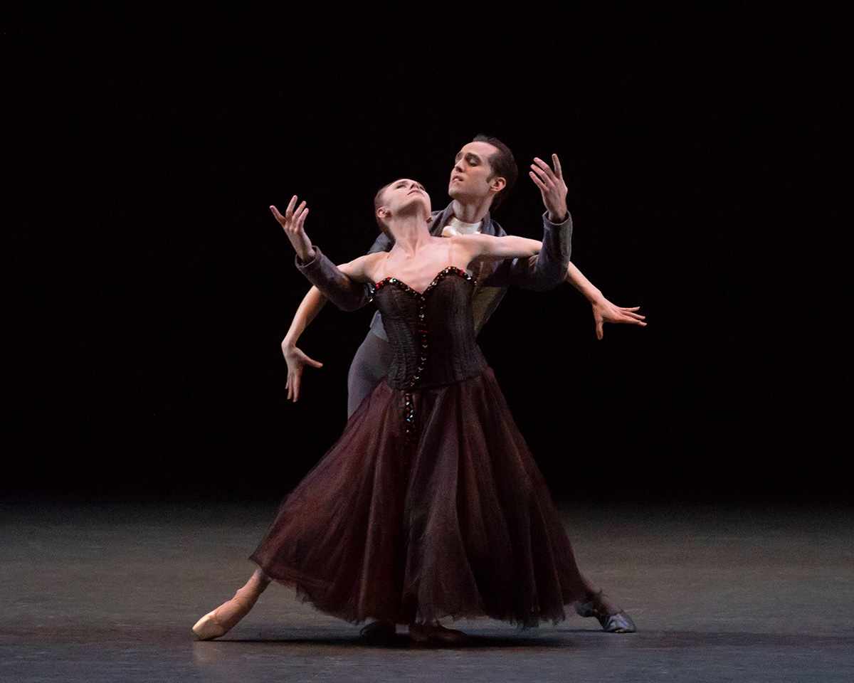 Sara Mearns and Jared Angle in Jerome Robbins' In the Night.© Erin Baiano. (Click image for larger version)