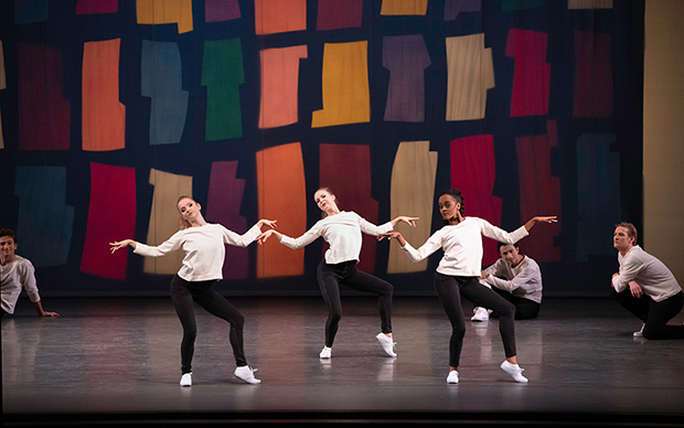 Emma Von Enck, Olivia MacKinnon and India Bradley in Jerome Robbins' <I>N.Y. Export Opus Jazz</I>.<br />© Erin Baiano. (Click image for larger version)