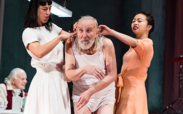 Marie Gyselbrecht, Leo De Beul and Yi-Chun Liu in Father (Vader).© Foteini Christofilopoulou. (Click image for larger version)