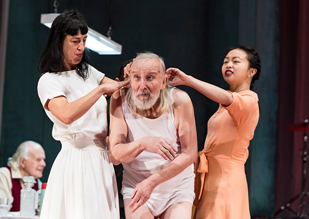 Marie Gyselbrecht, Leo De Beul and Yi-Chun Liu in <I>Father</I> (<I>Vader</I>).<br />© Foteini Christofilopoulou. (Click image for larger version)