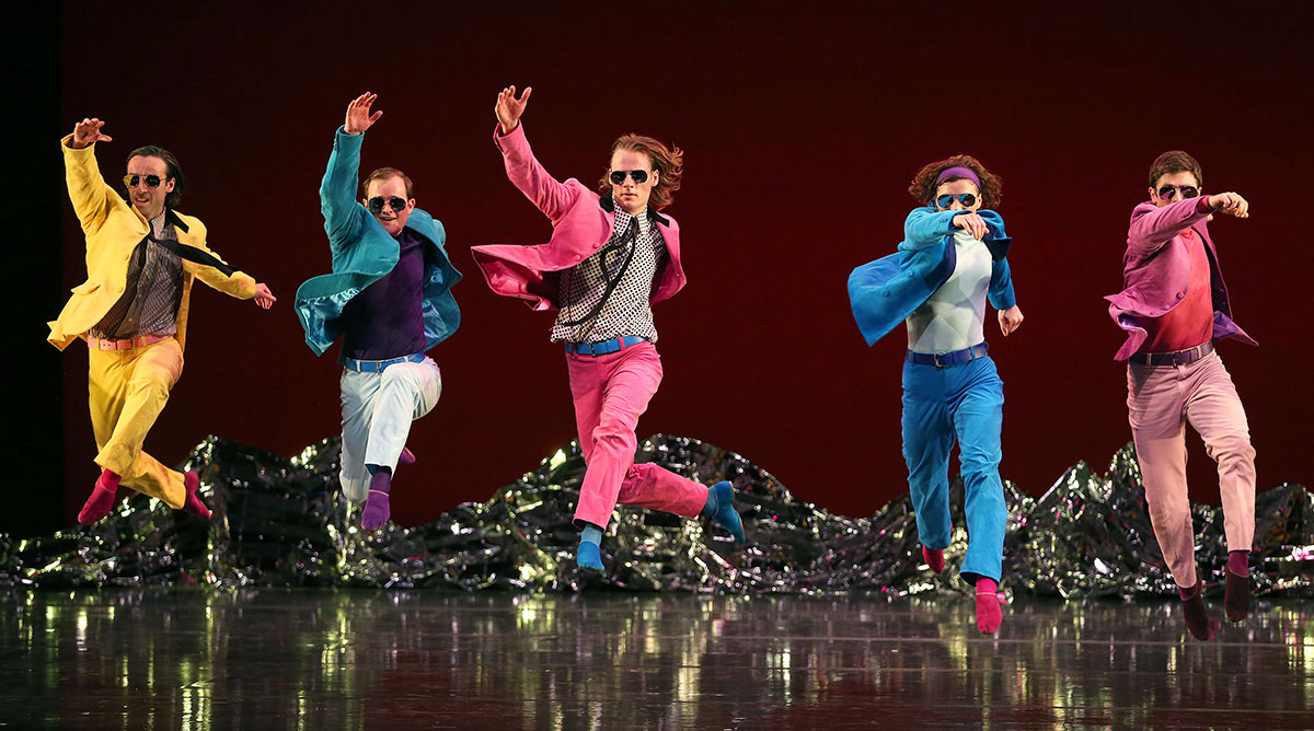 Mark Morris Dance Group in <I>Pepperland</I>.<br />© Gareth Jones. (Click image for larger version)