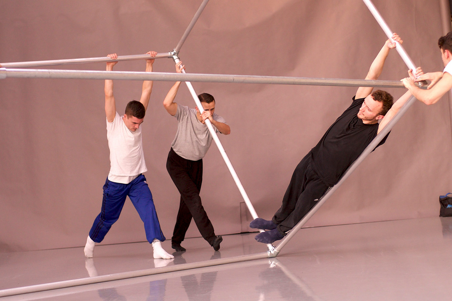 BalletBoyz in the studio creating Them.© George Piper. (Click image for larger version)