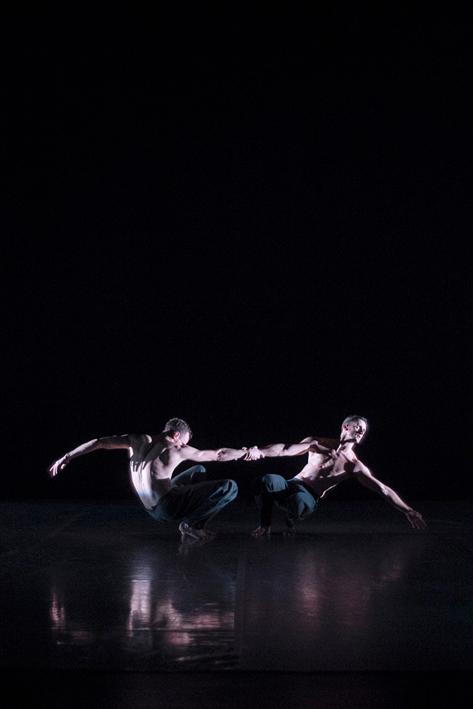 BalletBoyz in Christopher Wheeldon's <I>Us</I>.<br />© George Piper. (Click image for larger version)
