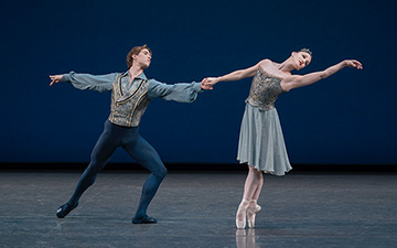 Ashley Bouder and Joseph Gordon in Tschaikovsky Piano Concerto No. 2.© Paul Kolnik. (Click image for larger version)