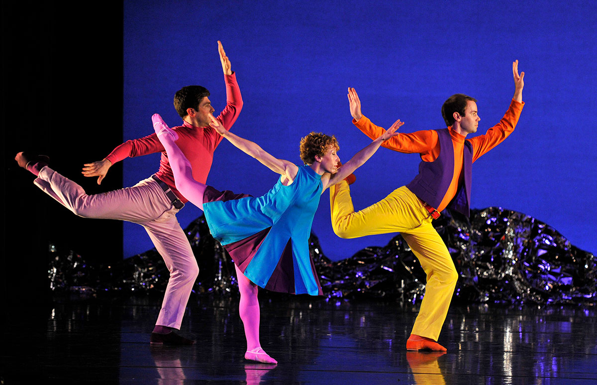 Mark Morris Dance Group in <I>Pepperland</I>.<br />© Robbie Jack. (Click image for larger version)