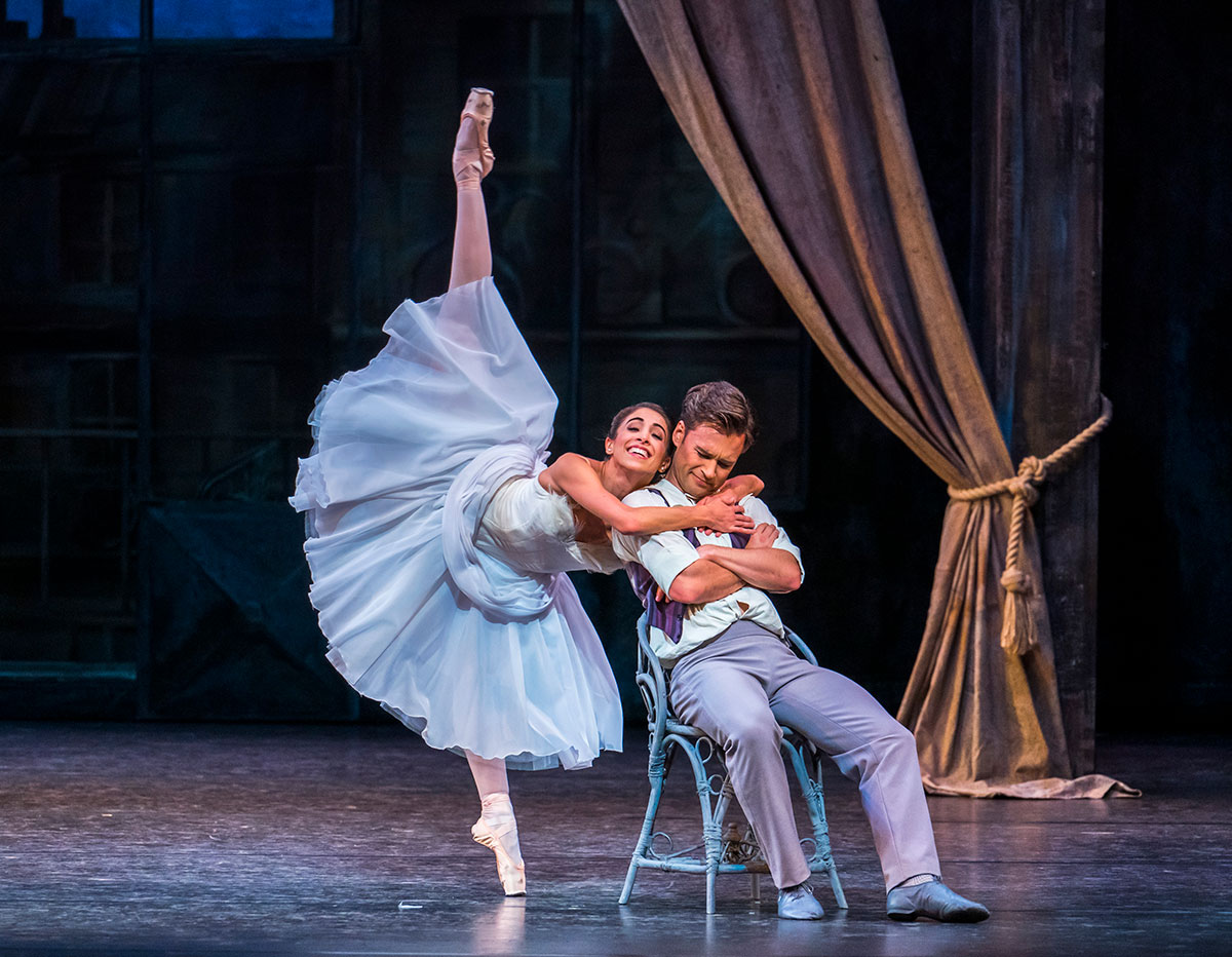 Yasmine Naghdi and Alexander Campbell in The Two Pigeons.© Tristram Kenton, courtesy the Royal Opera House. (Click image for larger version)