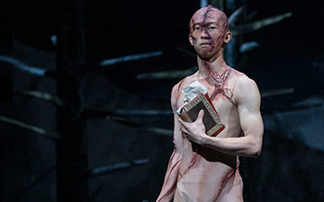 Wei Wang in Frankenstein.© Andrej Uspenski, courtesy the Royal Opera House. (Click image for larger version)