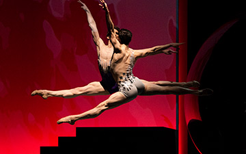 "Aaron Robison and Joseph Walsh in Possokhov's ""...two united in a single soul..."".© Erik Tomasson. (Click image for larger version)"