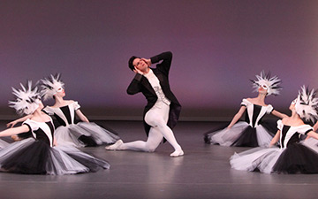 Marcelo Gomes & The Sarasota Ballet in Sir Frederick Ashton's Apparitions.© Frank Atura. (Click image for larger version)