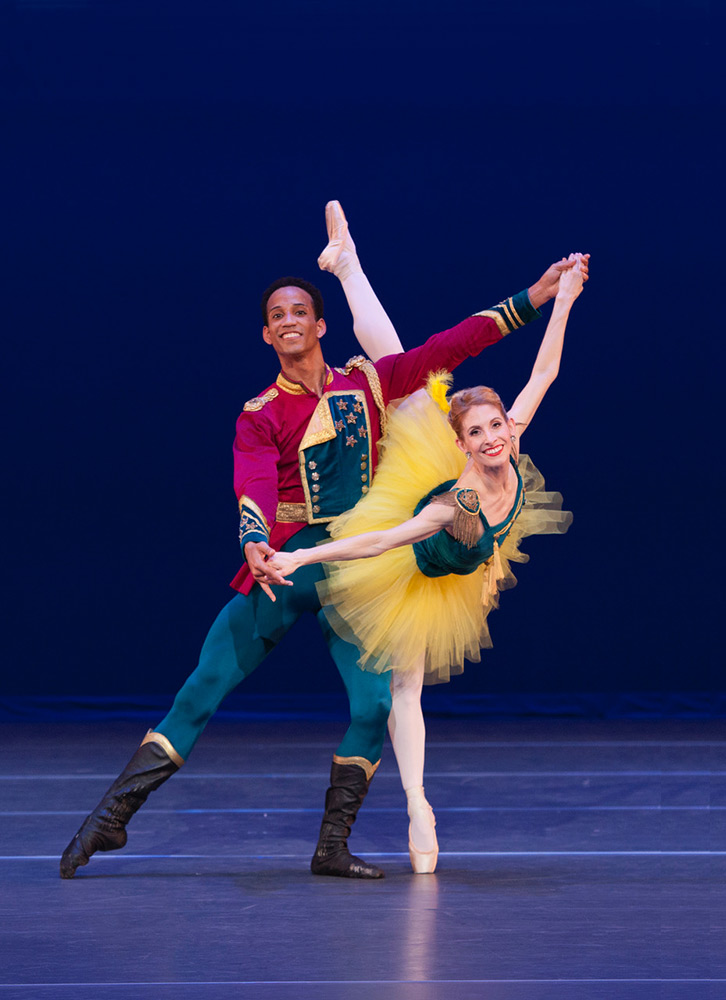 Kate Honea & Ricardo Rhodes in George Balanchine's Stars and Stripes.© Frank Atura. (Click image for larger version)