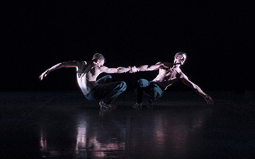 BalletBoyz in Christopher Wheeldon's Us.© George Piper. (Click image for larger version)