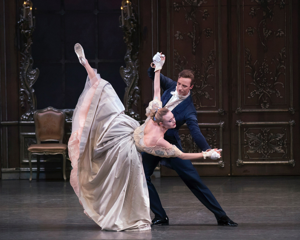 Sara Mearns and Ask la Cour in Liebeslieder Walzer.© Paul Kolnik. (Click image for larger version)