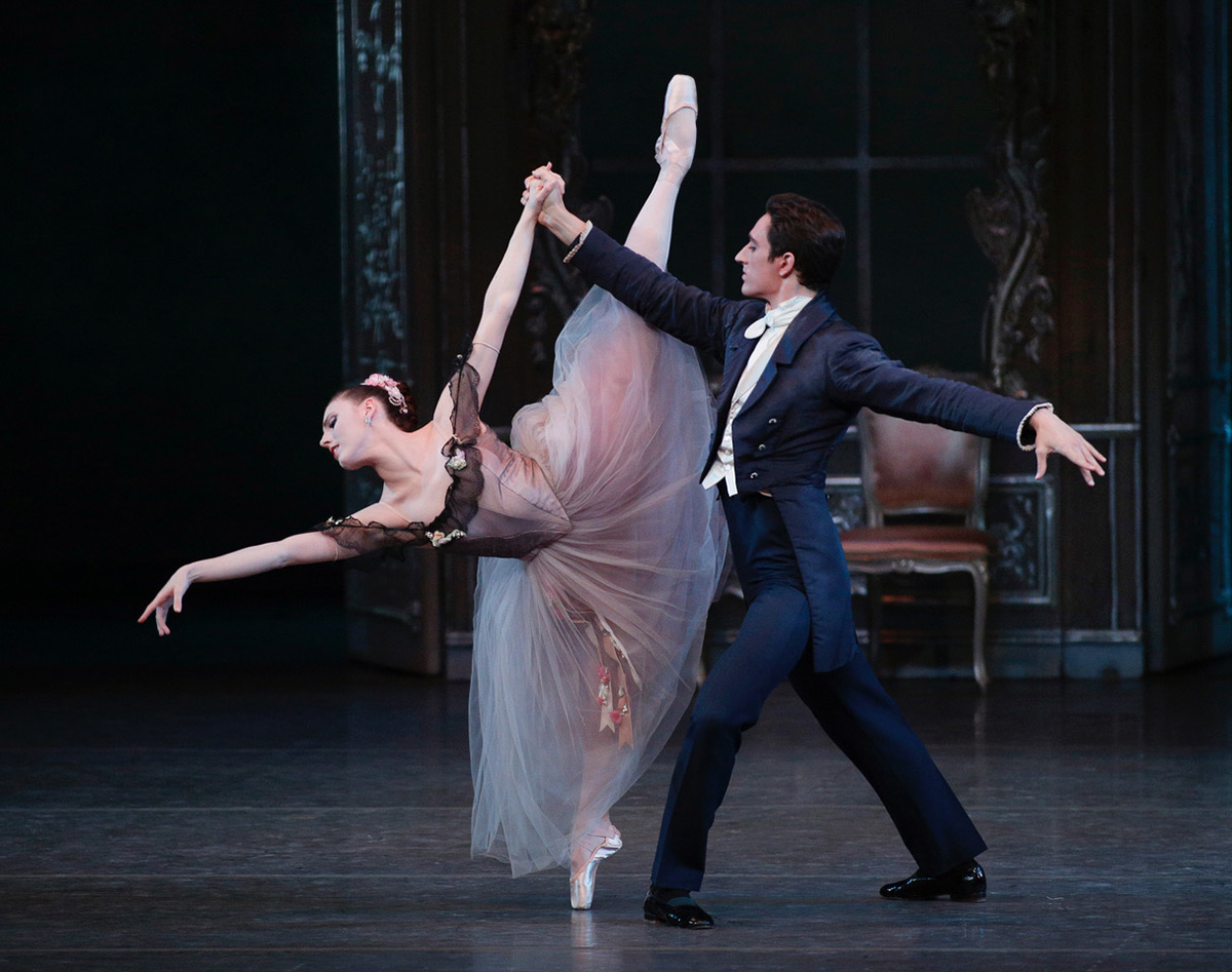 Tiler Peck and Justin Peck in Liebeslieder Walzer.© Paul Kolnik. (Click image for larger version)