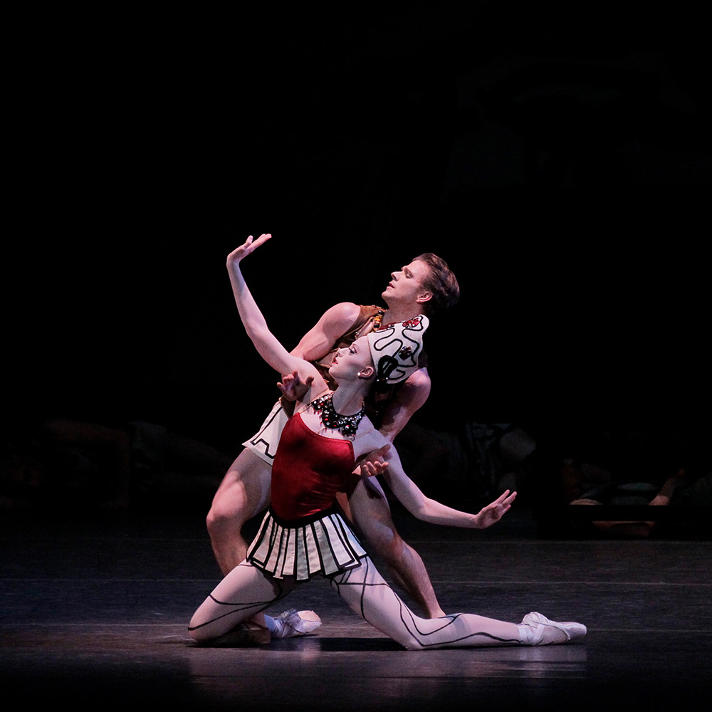 Daniel Ulbricht and Teresa Reichlen in Prodigal Son.© Paul Kolnik. (Click image for larger version)