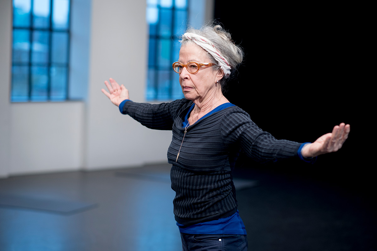 Deborah Hay in the studio.© Camilla Greenwell. (Click image for larger version)