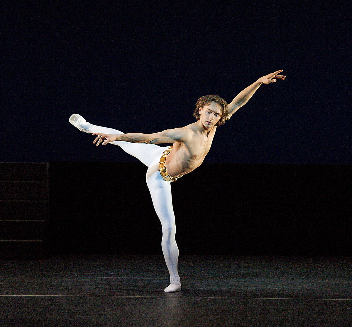 Ivan Putrov in Dance of the Blessed Spirits from his Men in Motion shpw at Sadler's Wells in 2012. © Elliott Franks. (Click image for larger version)