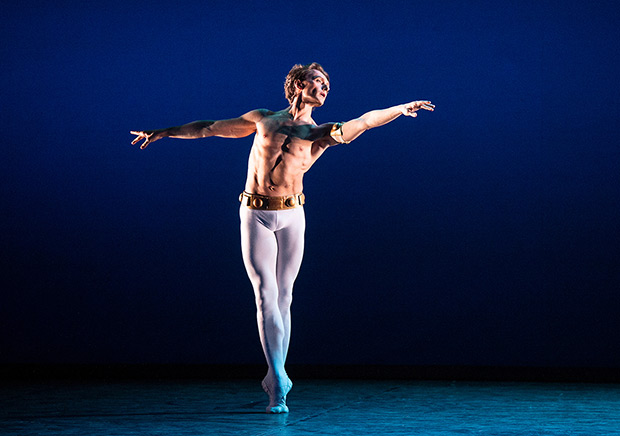 Ivan Putrov in Ashton's <I>Dance of the Blessed Spirits</I>.<br />© Elliott Franks. (Click image for larger version)