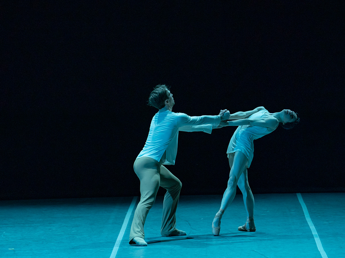 Anna Tsygankova and James Stout in <I>On the Nature of Daylight</I>.<br />© Jack Devant. (Click image for larger version)