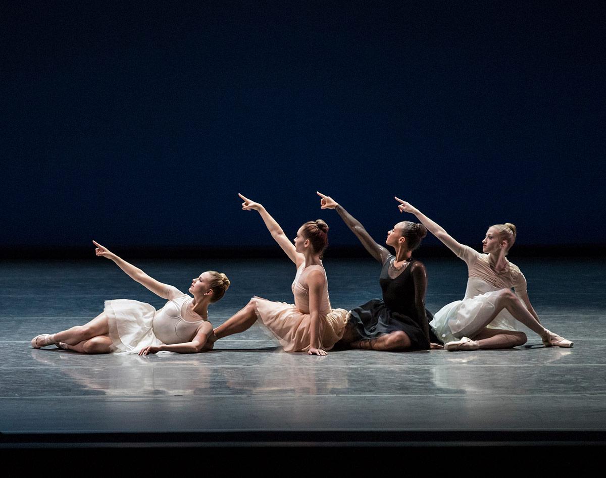 New York City Ballet in Gianna Reisen's Composer's Holiday.© Paul Kolnik. (Click image for larger version)