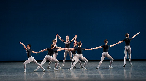 New York City Ballet in George Balanchine's Kammermusik No. 2.© Paul Kolnik. (Click image for larger version)