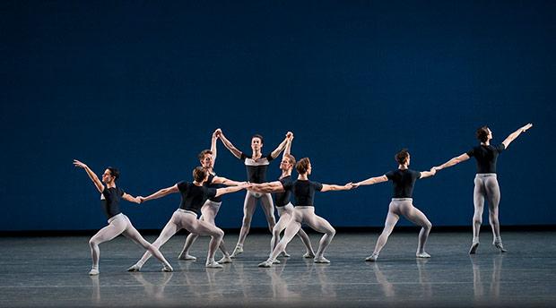 New York City Ballet in George Balanchine's Kammermusik No. 2.© Paul Kolnik. (Click image for larger version)