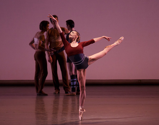 Sara Mearns in Justin Peck's <I>Rodeo: Four Dance Episodes</I>.<br />© Paul Kolnik. (Click image for larger version)
