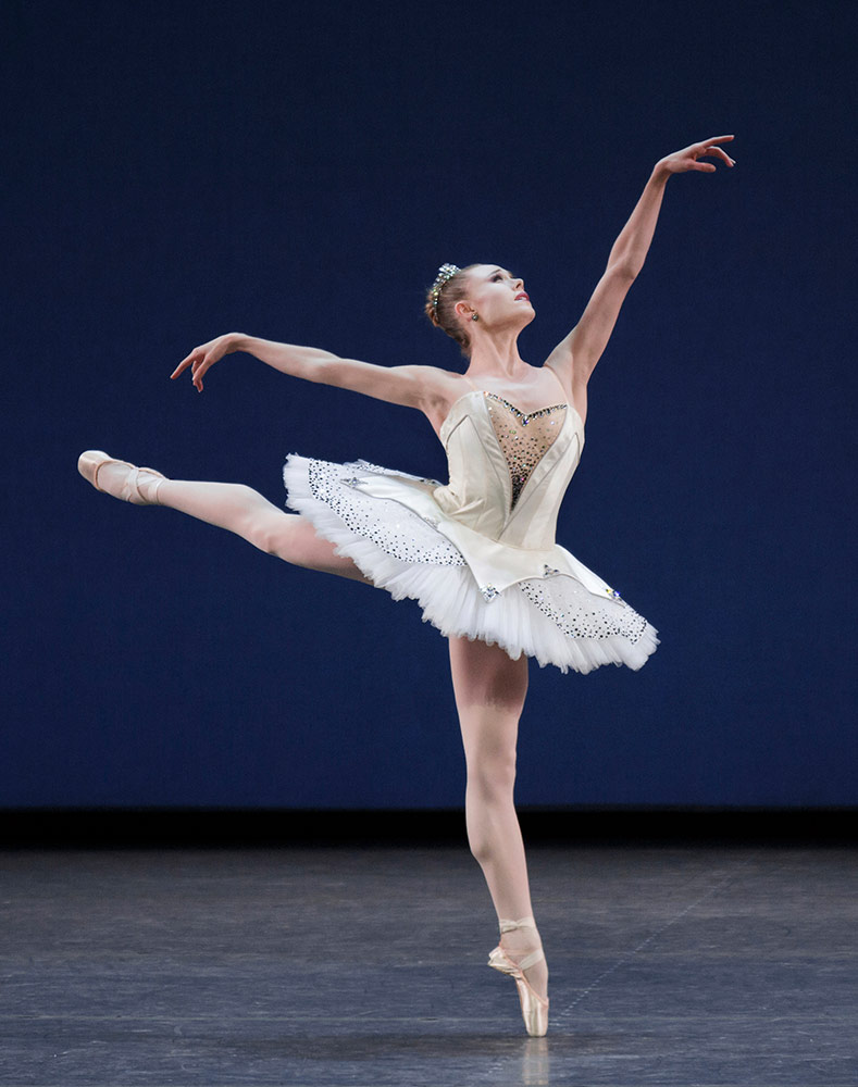 Sara Mearns in George Balanchine's Symphony in C.© Paul Kolnik. (Click image for larger version)